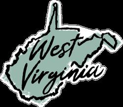 Hand Drawn West Virginia State Sticker