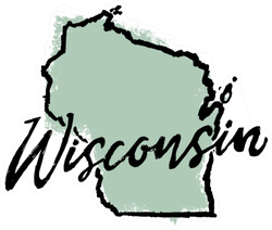 Hand Drawn Wisconsin State Sticker