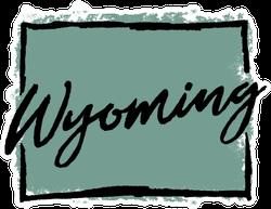 Hand Drawn Wyoming State Sticker