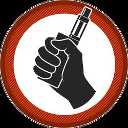 Hand Holding E-cigarette Vape Sticker