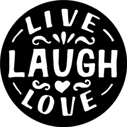 Hand Lettering Quote Live, Laugh, Love In Black Sticker