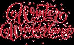 Hand Lettering Winter Wonderland Typography Sticker
