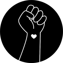 Hand Symbol For Black Lives Matter Protest In Usa Sticker