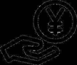 Hand with Yen Sticker