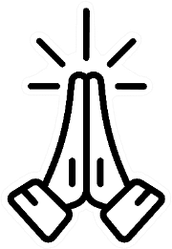 Hands Folded In Pray Iline Icon Sticker