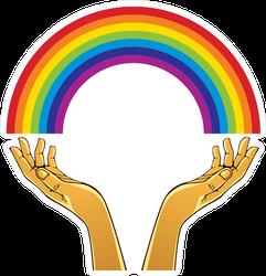 Hands With Rainbow Sticker