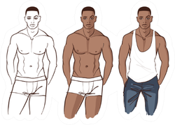 Handsome African American Male Model Sticker