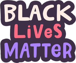Handwritten Black Lives Matter Sticker