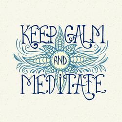 Handwritten Keep Calm And Meditate Sticker