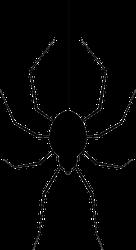 Hanging Spider Halloween Sticker
