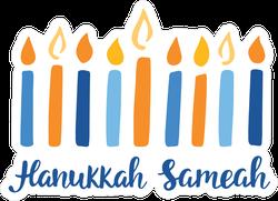 Hanukkah Sameah Candles Sticker