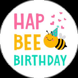 Hap Bee Birthday Sticker