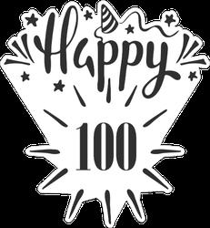 Happy 100th Birthday Sticker