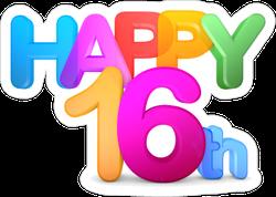 Happy 16th Sticker
