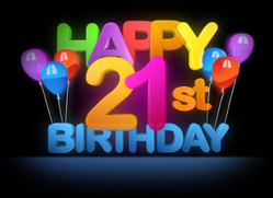 Happy 21st Birthday Sticker