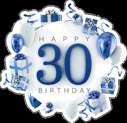 Happy 30th Birthday Party Sticker