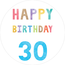 Happy 30th Birthday Sticker