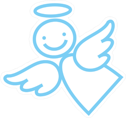 Happy Angel Outline Sticker