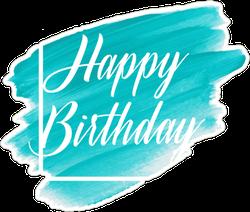Happy Birthday Grunge Art Sticker