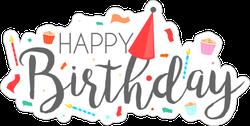 Happy Birthday Typographic Sticker