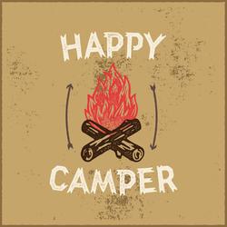 Happy Camper Campfire Sticker