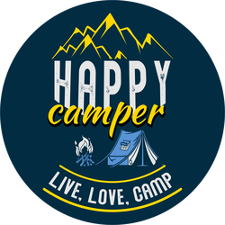 Happy Camper Live, Love, Camp Sticker