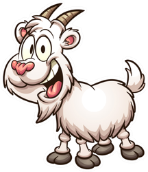 Happy Cartoon Goat Sticker