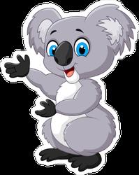 Happy Cartoon Koala Sticker