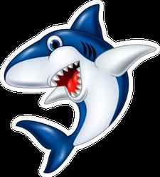 Happy Cartoon Smiling Shark Sticker