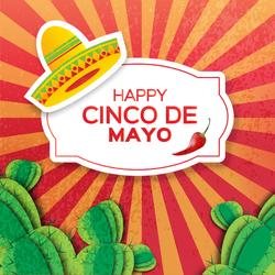 Happy Cinco De Mayo Sunburst Sticker