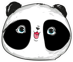 Happy Cute Panda Head Sticker