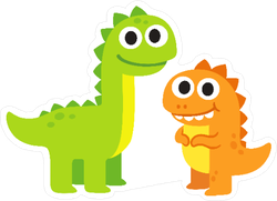 Happy Dinosaur Friends Sticker
