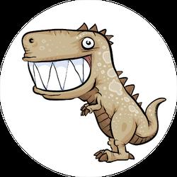 Happy Dinosaur with Giant Teeth Sticker