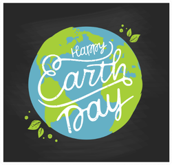 Happy Earth Day Handwritten Sticker