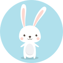 Happy Easter Bunny Blue Sticker