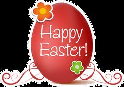 Happy Easter Pink Egg Sticker