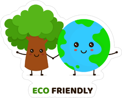Happy Eco Friendly Sticker