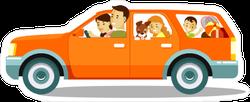 Happy Family Road Trip Sticker