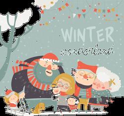 Happy Family Winter Wonderland Sticker