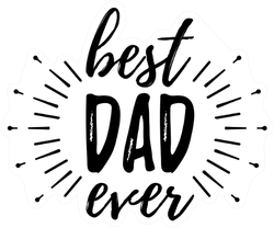 Happy Father's Day Banner Sticker