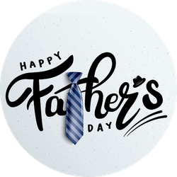 Happy Father's Day Calligraphy Illustration Sticker