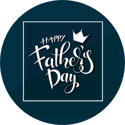 Happy Father's Day Crown Sticker
