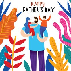 Happy Father's Day Fun Artwork Sticker