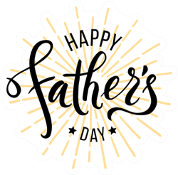 Happy Fathers Day Greeting Sticker