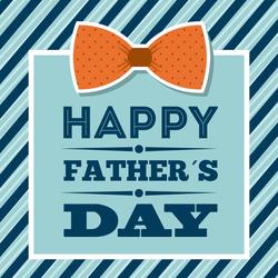 Happy Father's Day Orange Bow Tie Sticker