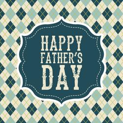 Happy Father's Day Retro Plaid Sticker