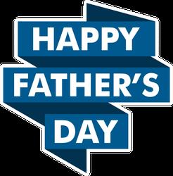 Happy Fathers Day Ribbon Sticker