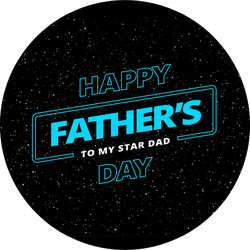 Happy Father's Day Theme Background Sticker