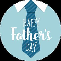 Happy Fathers Day With Big Tie Sticker