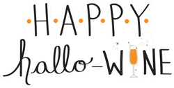 Happy Hallo Wine Halloween Pun Sticker